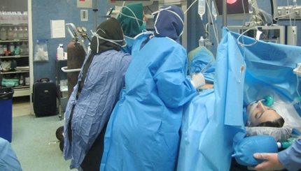 اتاق عمل لاپاروسکوپی 3 1 430x245 - انواع برش شکم در سزارین