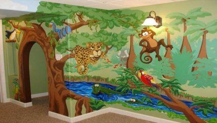 تزیین اتاق کودک، طرح حیوانات