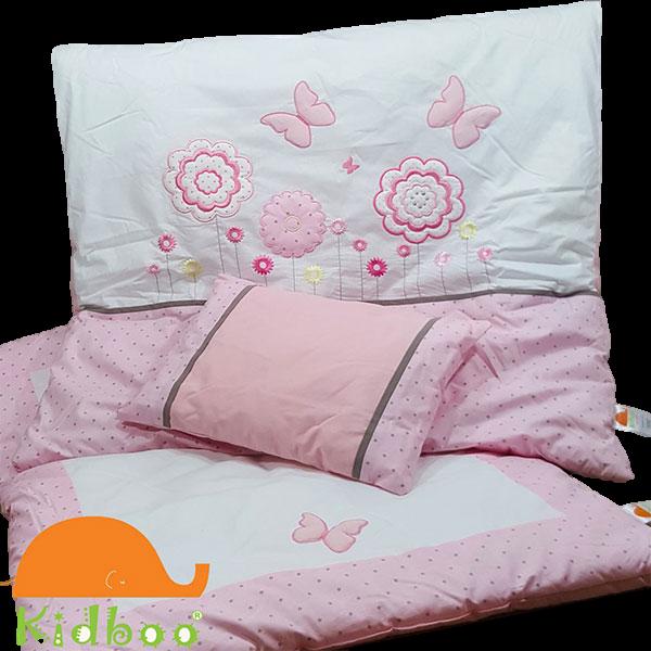 سرویس خوایب 4 تیکه کیدبو 600x600 - سرویس خواب ۴ تکه کیدبو مدل  سویت فلاورز | Kidboo sweet flowers