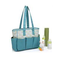 ساک لوازم ۲تکه برند کالرلند رنگ سبز با طرح دایره | Colorland Diaper Bag