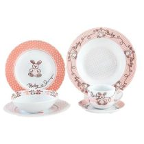 سرویس چینی کودک مدل کیتی 58 210x210 - سرویس چینی ۶ پارچه کودک زرین ایران مدل سری ایتالیا اف طرح بانی | Zarin Iran Porcelain Inds Italia F BUNNY Mouse 6 Pieces Porcelain Children Dinnerware Set