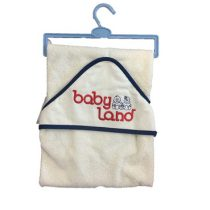 حوله نوزادی بی بی لند 210x210 - حوله تک بی بی لند | baby land towel