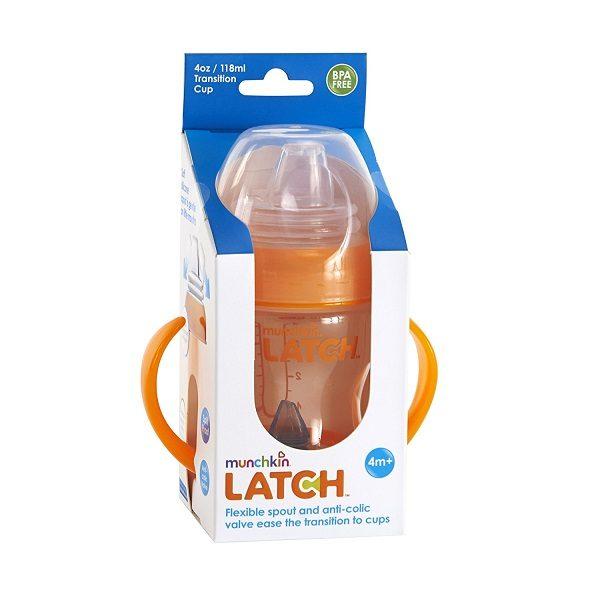 آبمیوه خوری مانچکین 600x600 - آب میوه خوری مانچکین ضد نفغ 120 میلی | Munchkin LATCH Transition Cup