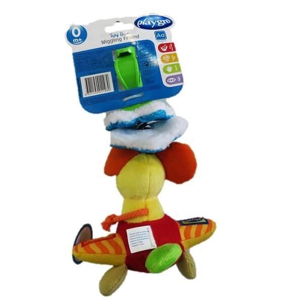 playgro t0101148 600x600 - عروسک موش ویبره دار و کشیدنی پلی گرو playgro مخصوص کالسکه و کریر