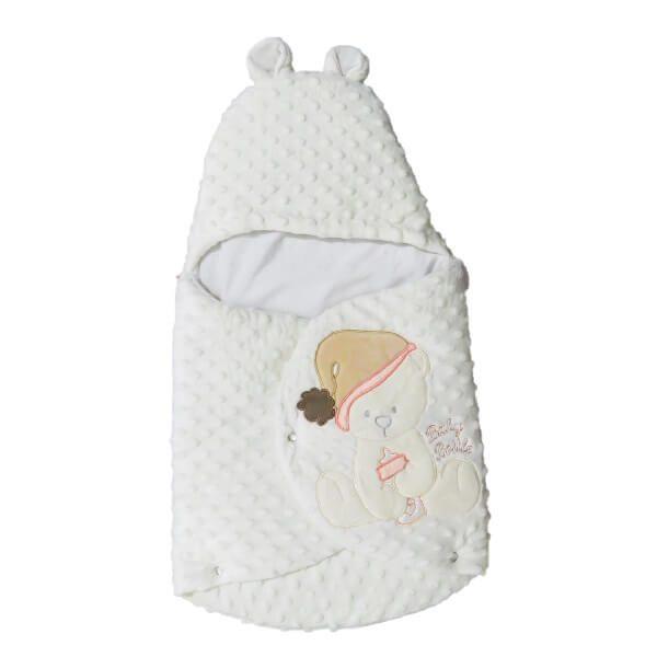 pegasus withe khers sorati 4 600x600 - سرویس خواب پگاسوس طرح خرس همراه با قنداق فرنگی سفید