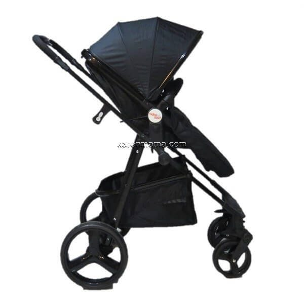 blacks babyland c31l new 1 600x600 - ست 2 تکه کالسکه  babyland بیبی لند مدل c31l تمام مشکی