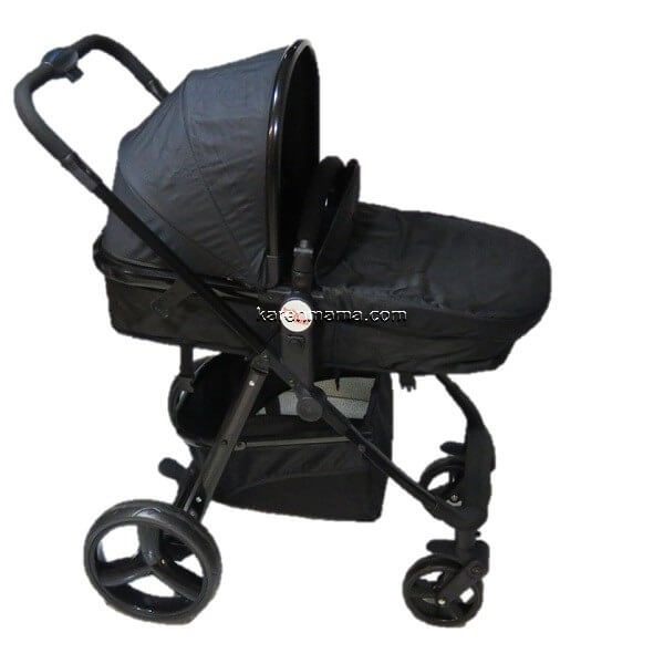 blacks babyland c31l new 12 600x600 - ست 2 تکه کالسکه  babyland بیبی لند مدل c31l تمام مشکی