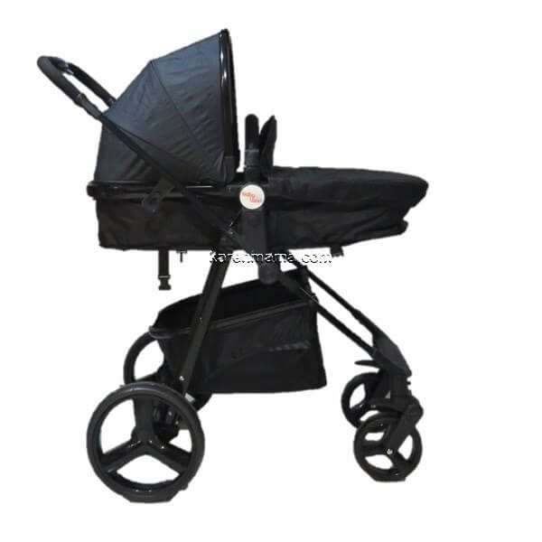blacks babyland c31l new 13 600x600 - ست 2 تکه کالسکه  babyland بیبی لند مدل c31l تمام مشکی