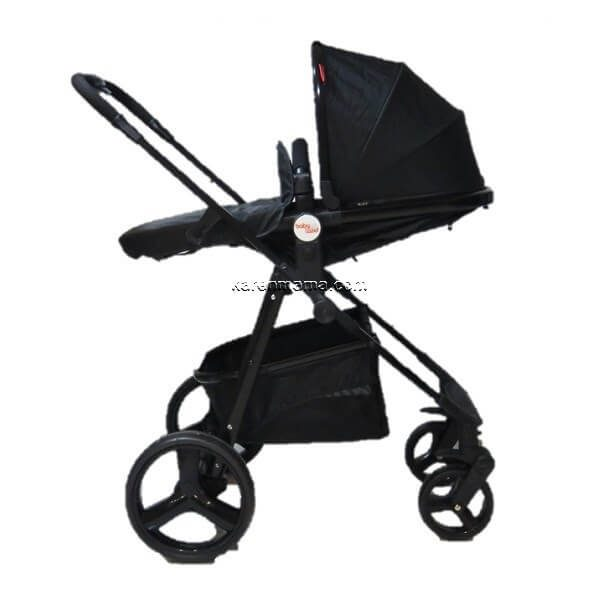 blacks babyland c31l new 17 600x600 - ست 2 تکه کالسکه  babyland بیبی لند مدل c31l تمام مشکی