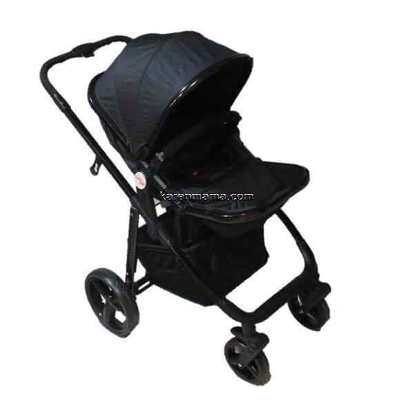blacks babyland c31l new 7 600x600 - ست 2 تکه کالسکه  babyland بیبی لند مدل c31l تمام مشکی