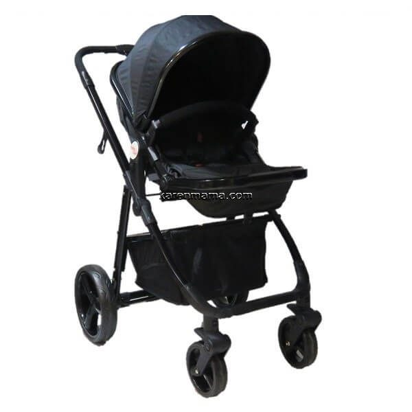 blacks babyland c31l new 8 600x600 - ست 2 تکه کالسکه  babyland بیبی لند مدل c31l تمام مشکی