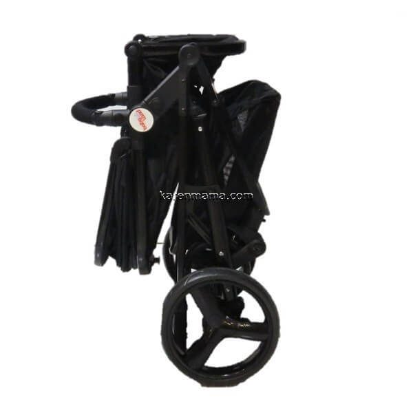 blacks babyland c31l new 9 600x600 - ست 2 تکه کالسکه  babyland بیبی لند مدل c31l تمام مشکی
