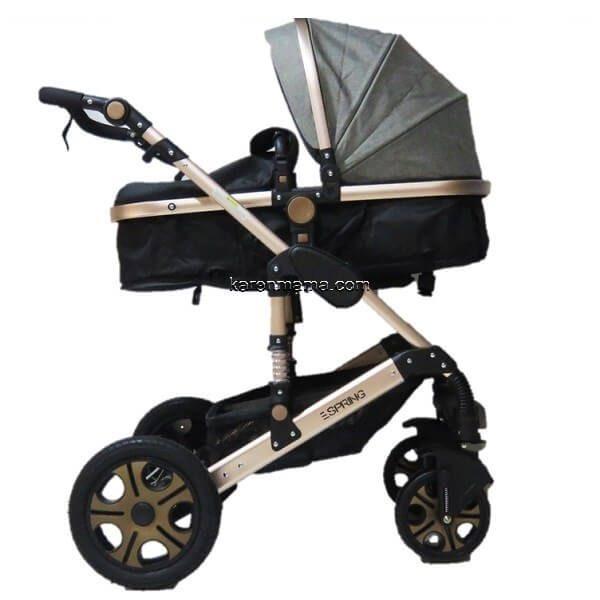 en9688 stroller gey gold 0132 600x600 - ست کالسکه espring اسپرینگ مدل 9688 رنگ gold-grey