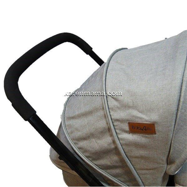 baby4life stroller set uk 19 600x600 - ست کالسکه و ساک baby4life بیبی فور لایف مدل uk رنگ نقره ای