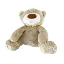 عروسک پولیشی خرس تدی جغجغه ای 20 سانتی اورجینال