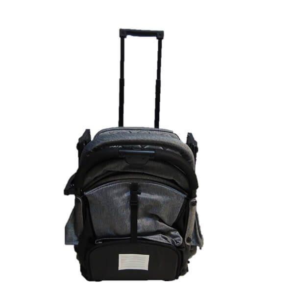 کالسکه دسته چمدانی کیکابو kikka boo مدل milley رنگ dark-grey