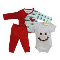لباس نوزادی یلدا 3 تکه وان بیبی کد 002